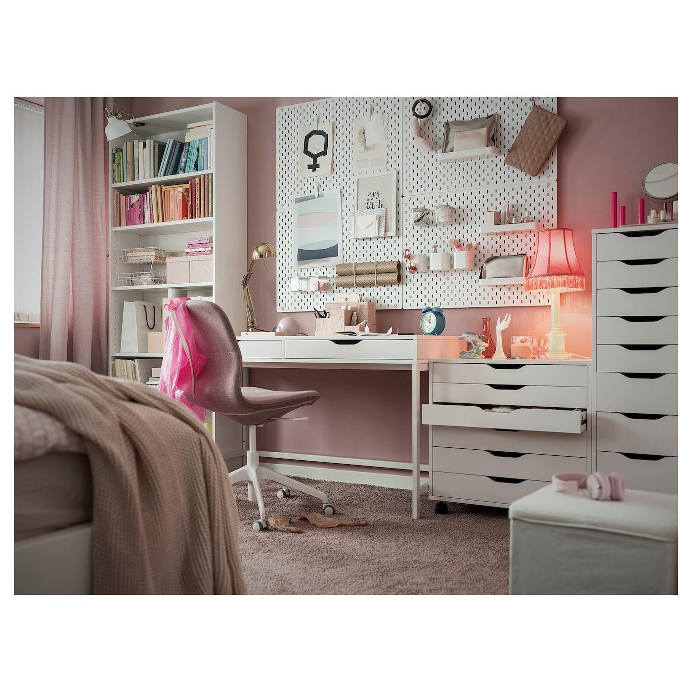 Alex Desk White Ikea In 2020 Alex Desk White Desks Drawer Unit