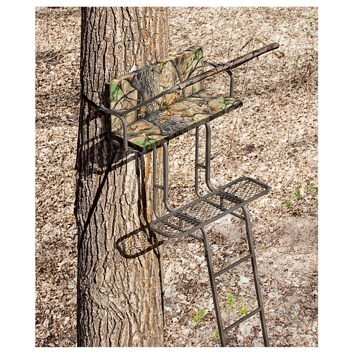 Sniper 15 Foot Deluxe 2 Man Ladder Stand Ladder Stands Ladder Tree Stands Tree Stand