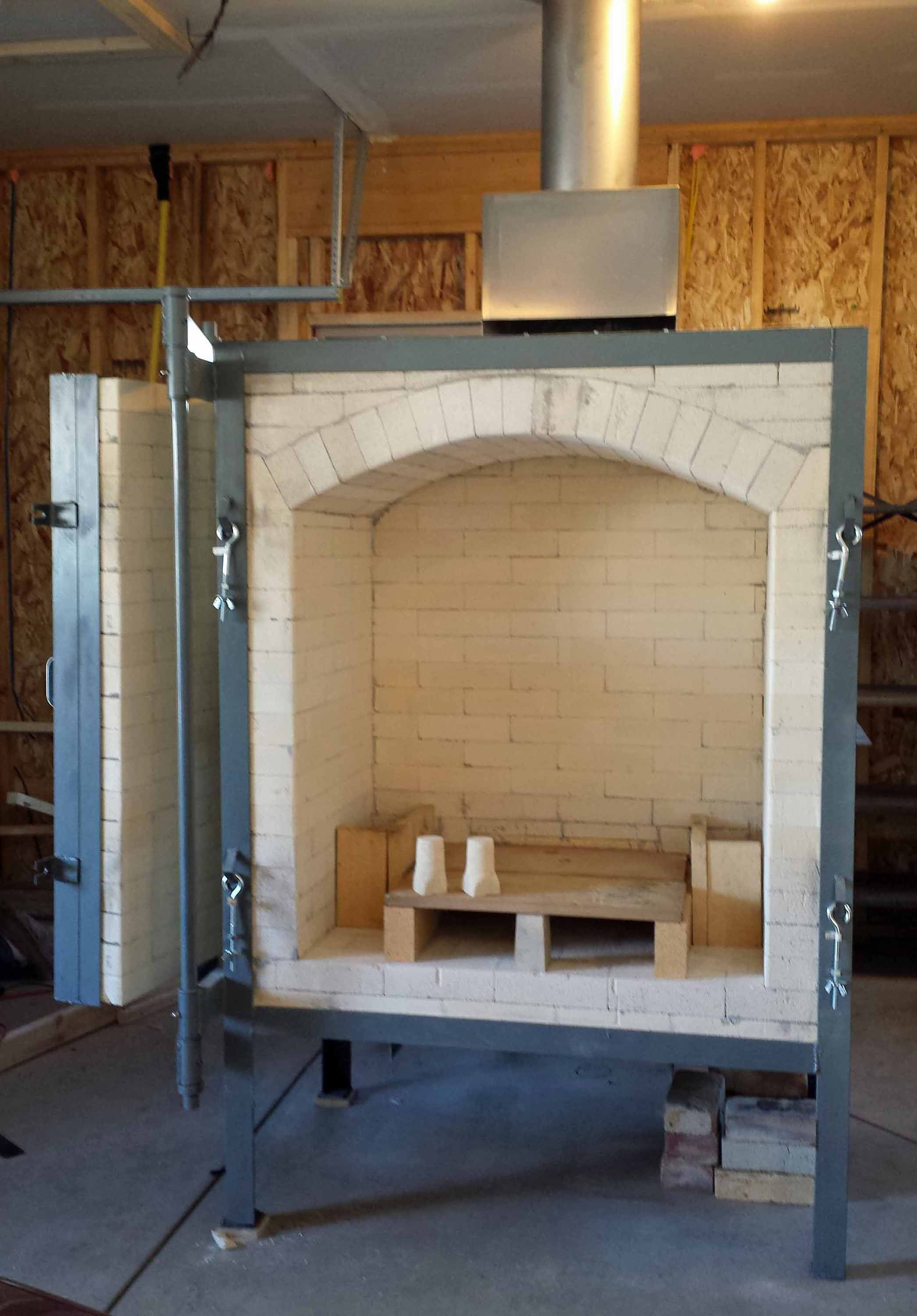 New Gas Kiln Installed And Ready To Go Built By Jim