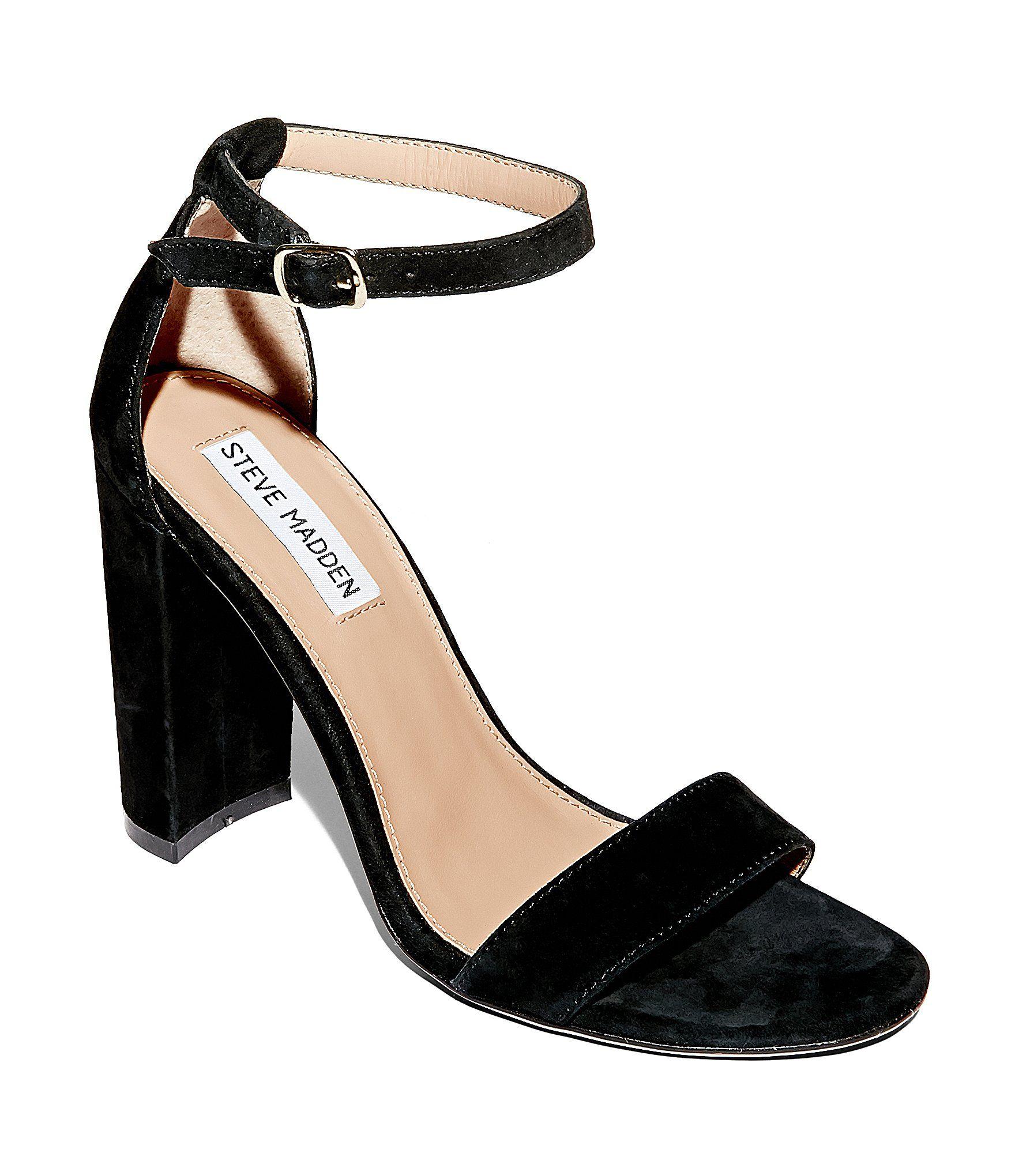 Steve Madden Carrson Suede Ankle Strap Block Heel Dress Sandals   Dillards