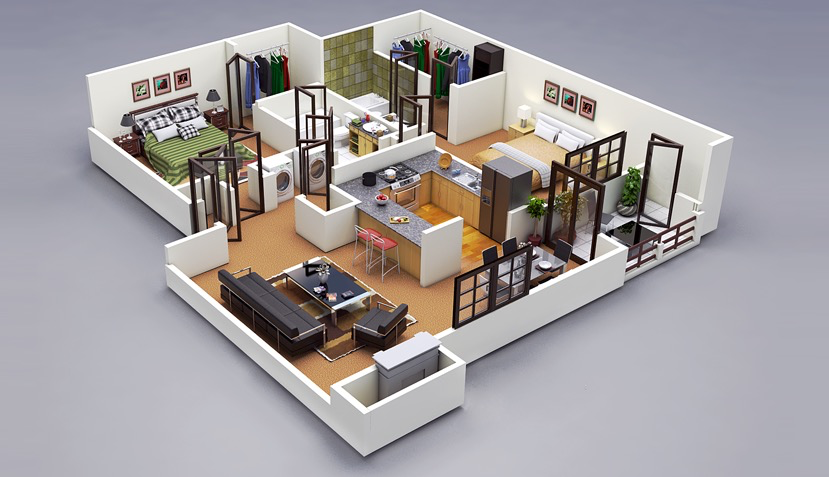 amazing one bedroom apartment floor plans. 50 Four  4 Bedroom Apartment House Plans Furniture layout apartment and Apartments
