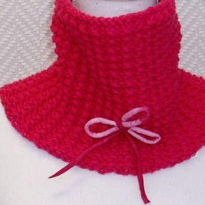 091a90d83a33 Snood, écharpe en laine rose