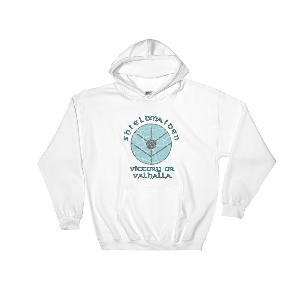 b87609f303df3 Shieldmaiden  Victory or Valhalla Hooded Sweatshirt