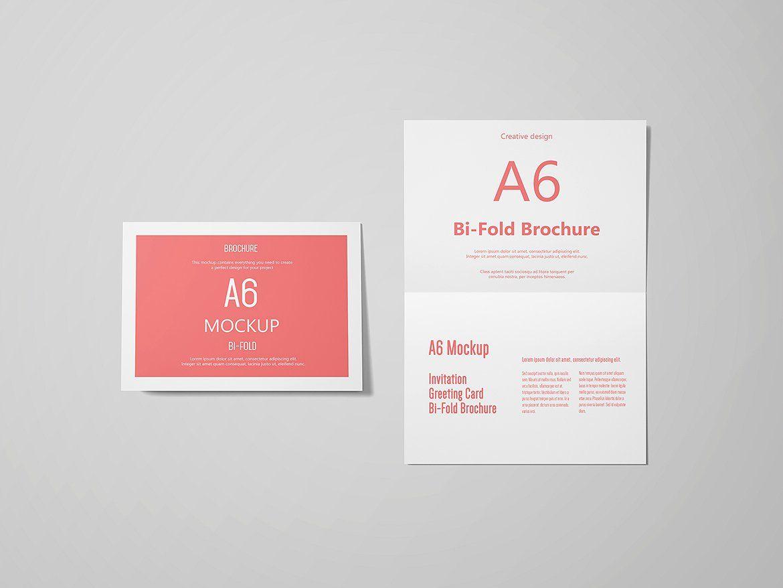 A6 Landscape Greeting Card Mockup Fully Set Files Psd