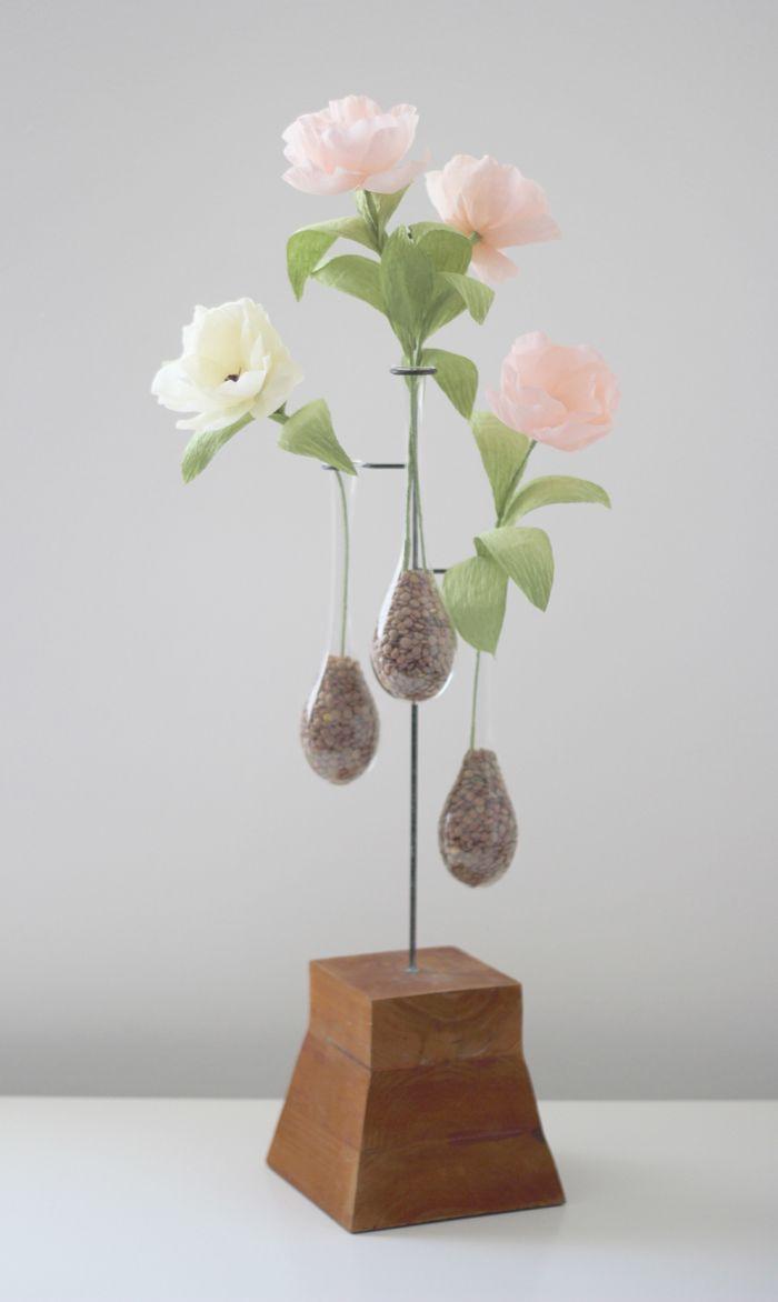 Yellow u peachjpg paper flowers pinterest crafts