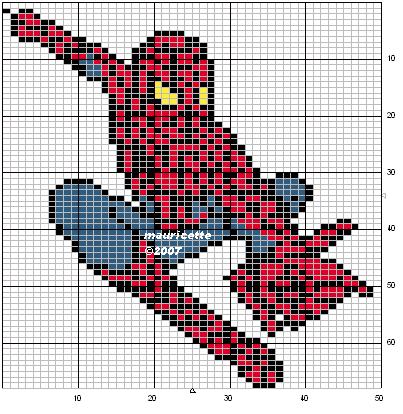 Spiderman perler bead pattern by Mauricette