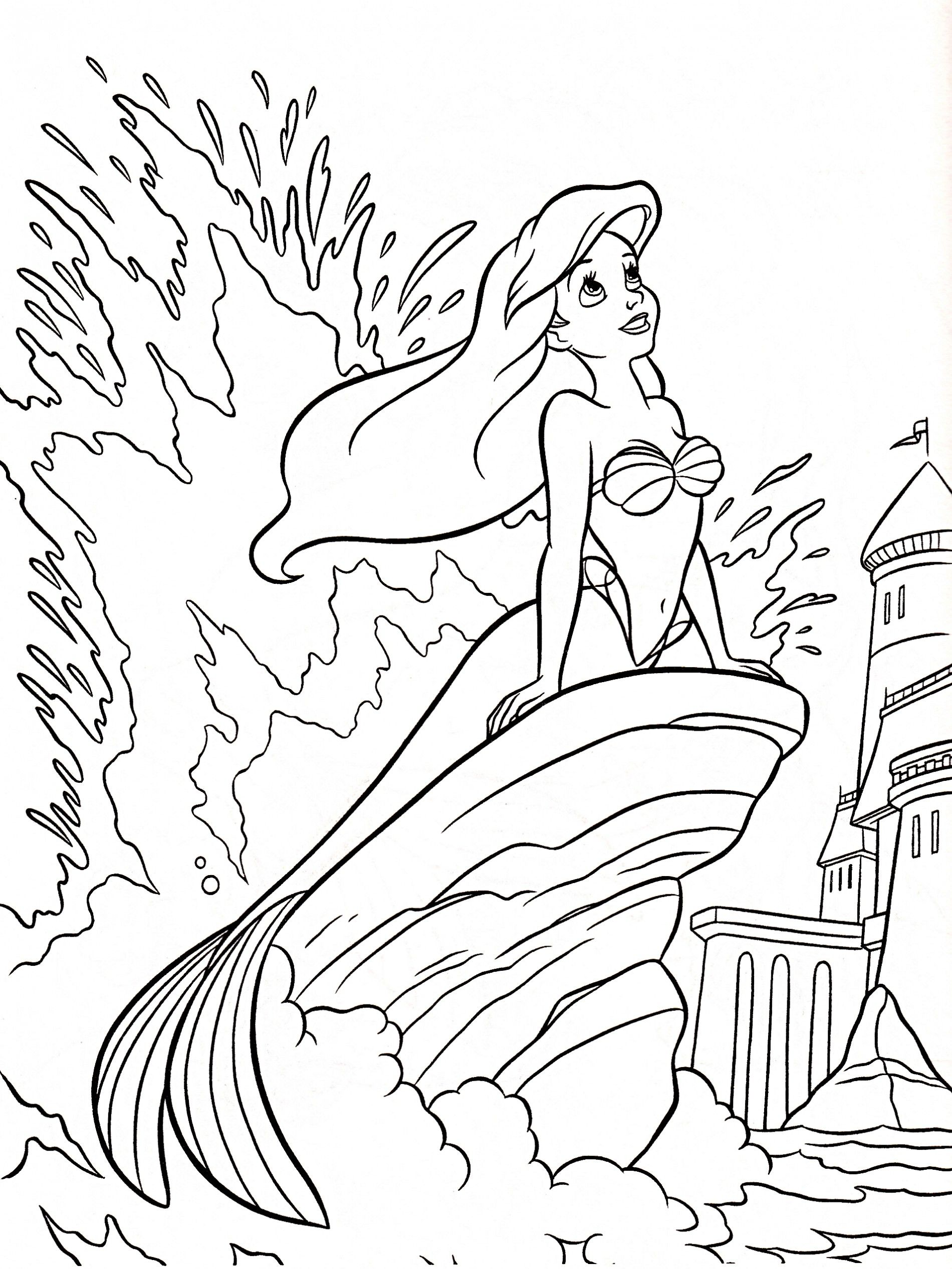 Little Mermaid Coloring Pages Pictures Photos Images Adult