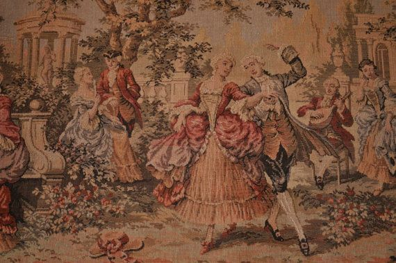 Belgian Victorian Style Tapestry Wall