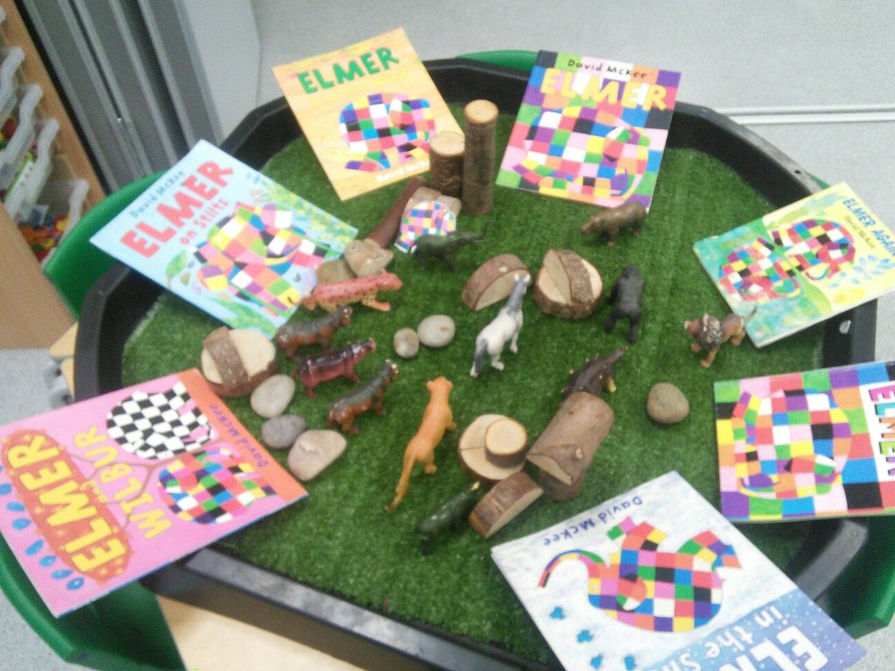 Image result for elmer small world play ideas
