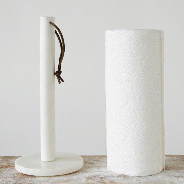 Free Standing White Marble Paper Towel Holder Towel Holder Marble Paper