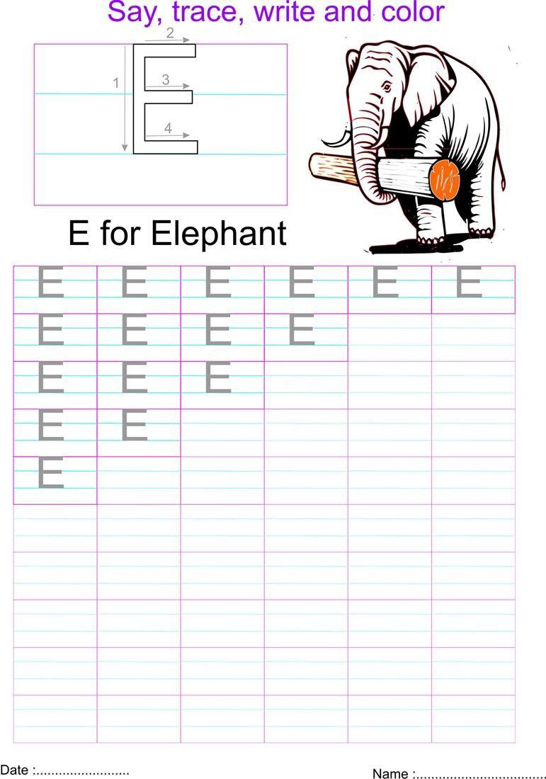 English Capital Letter E Worksheet Letter E Worksheets Alphabet Worksheets Preschool Alphabet Preschool