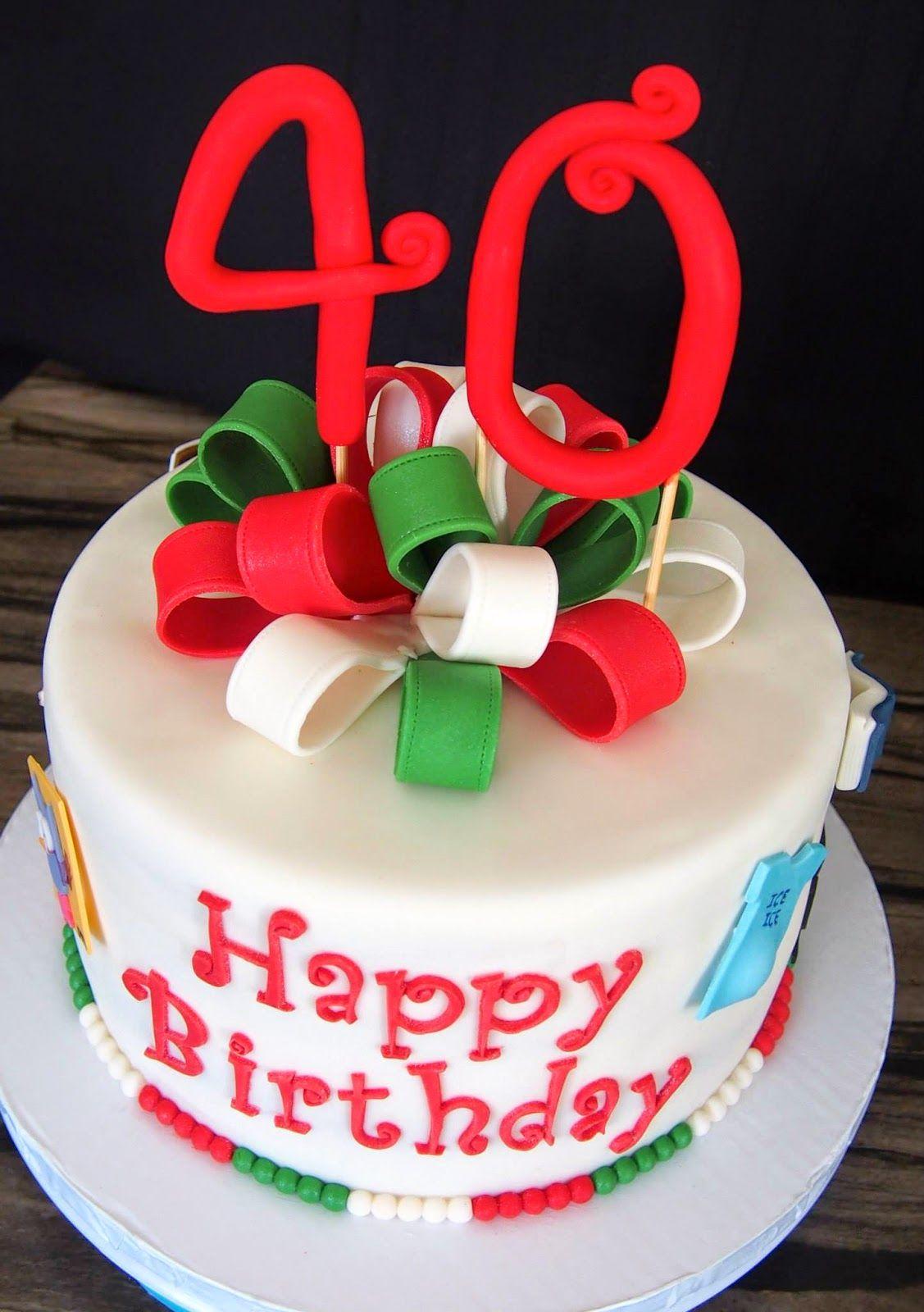 40th birthday cake 40th birthday cakes birthday cake
