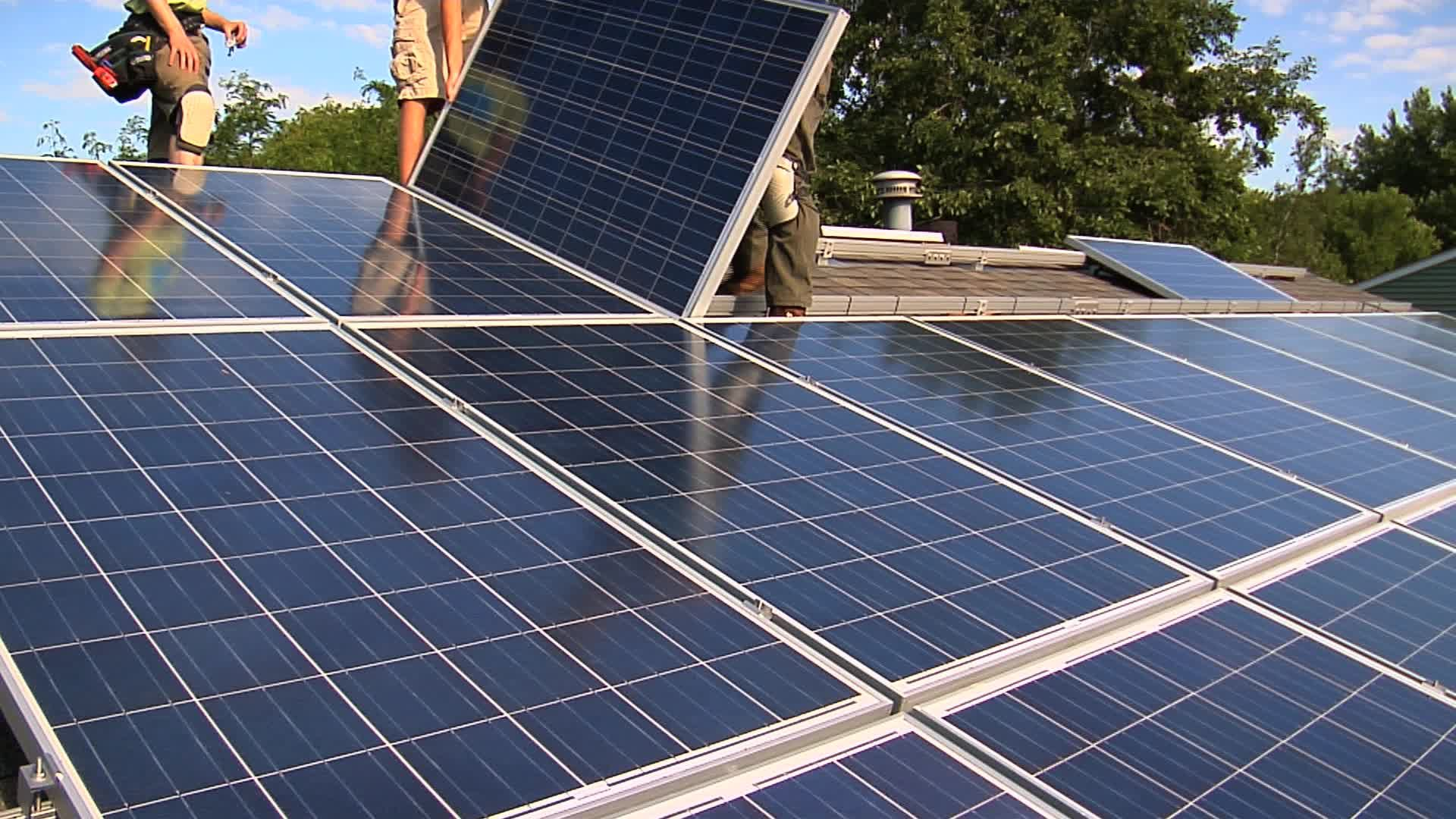 Workers Install Solar Panel Stock Footage Solar Install Workers Footage Solar Panel Installation Solar Panels Solar