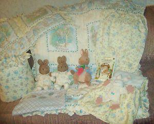 12 Pc Beatrix Potter Peter Rabbit Unisex Crib Baby Bedding