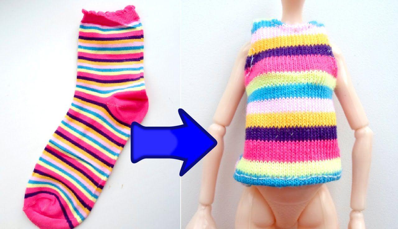 Сшить кукле из носка для барби