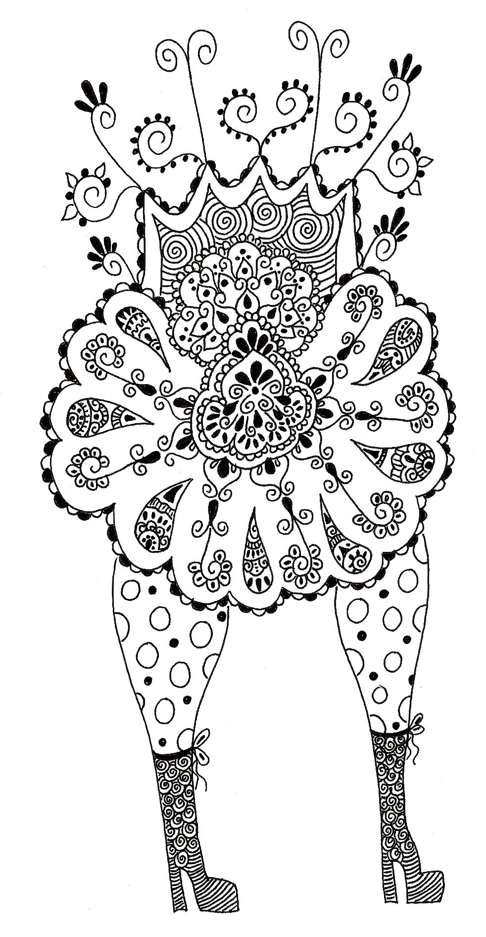 Day 1070 Walking On Springtime Doodle Coloring Coloring Pages Doodles