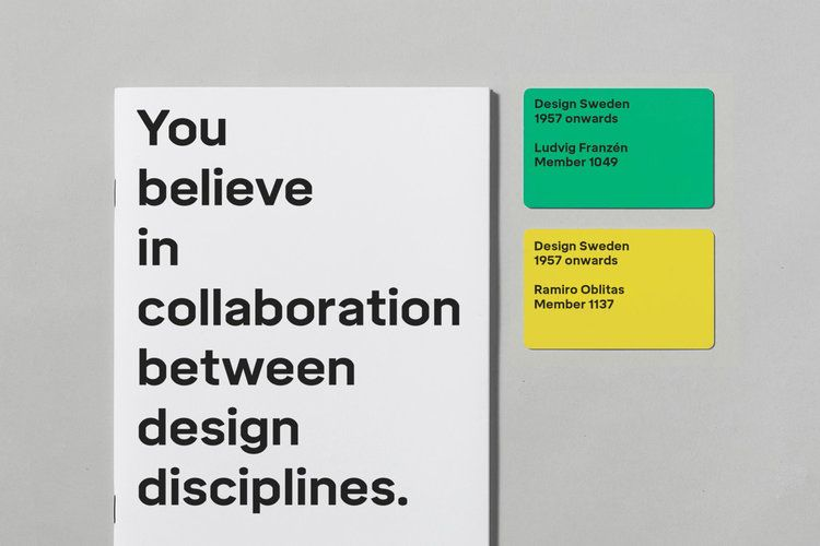 Establishing A New Identity For The Organisation Design Sweden Founded In 1957 A Custom Typeface Family Was Designed To Create Minimal Graphic Design