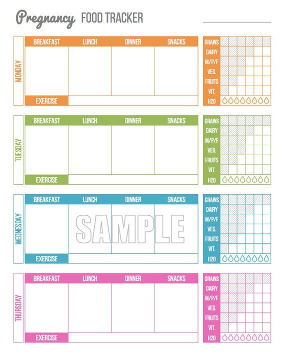 pregnancy food tracker pregnancy food journal pregnancy printables maternity printables pren