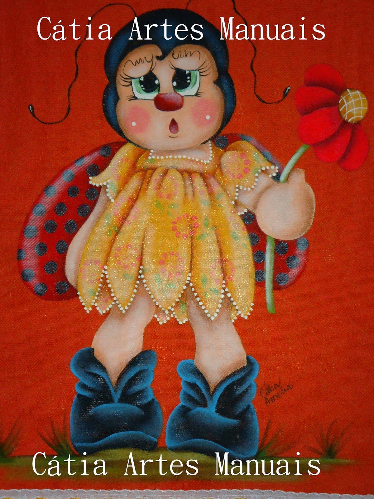 Catia Artes Manuais: PASSO A PASSO JOANINHA COUNTRY