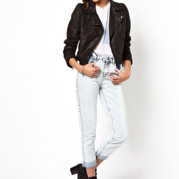 Motel Rocks Elvie Motel Elvie Faux Leather Jacket in Black Motel Rocks Jackets & Coats