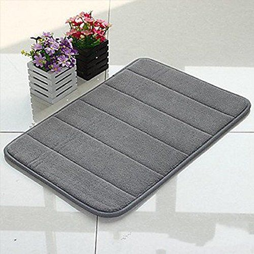 Wpms Incredibly Soft And Absorbent Memory Foam Bath Mat 17 By 24