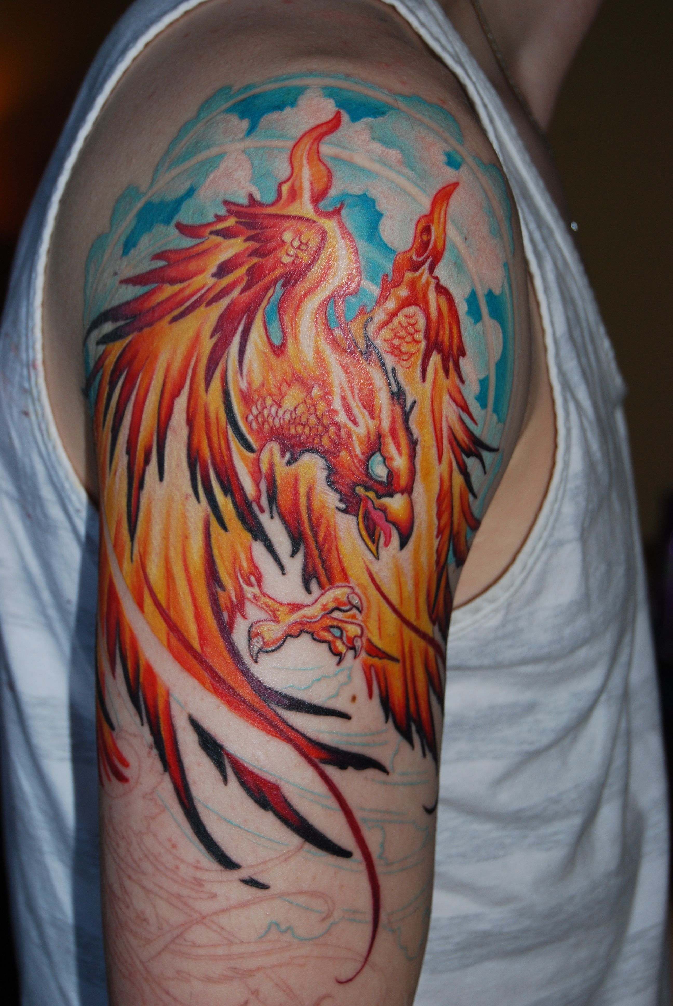 Part 2 of 3 phoenix with images art tattoo