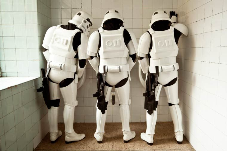 """With his project entitled The Other Side,the Spanish photographer Jorge Pérez Higuera is having fun staging in a quirky way the very ordinary daily life of the famous #Stormtroopers from StarWars. Far from the Death Star, lightsabers,#DarthVader,the droids and the evil plans of the Empire, the photographer  captures his Stormtroopers struggling with the housework, repairs etc,saying that """"Let's be honest, if that future existed, we would probably be imperial soldiers and not heroes or…"""