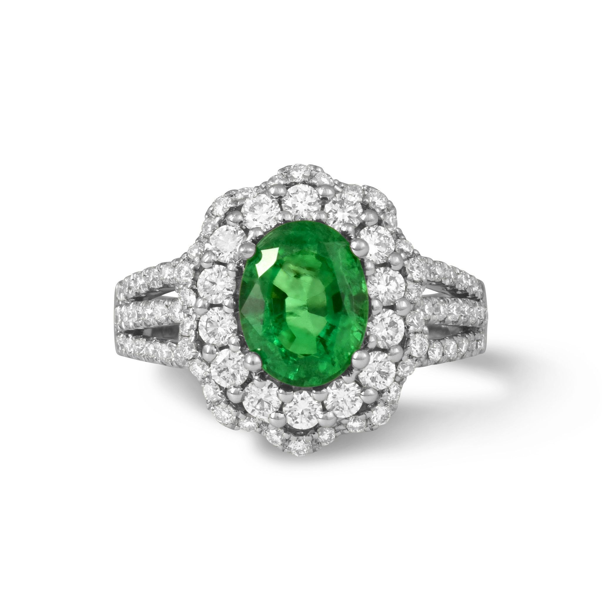 diamond carr oval cut flanked diamonds by pin bulgari the emerald ring and
