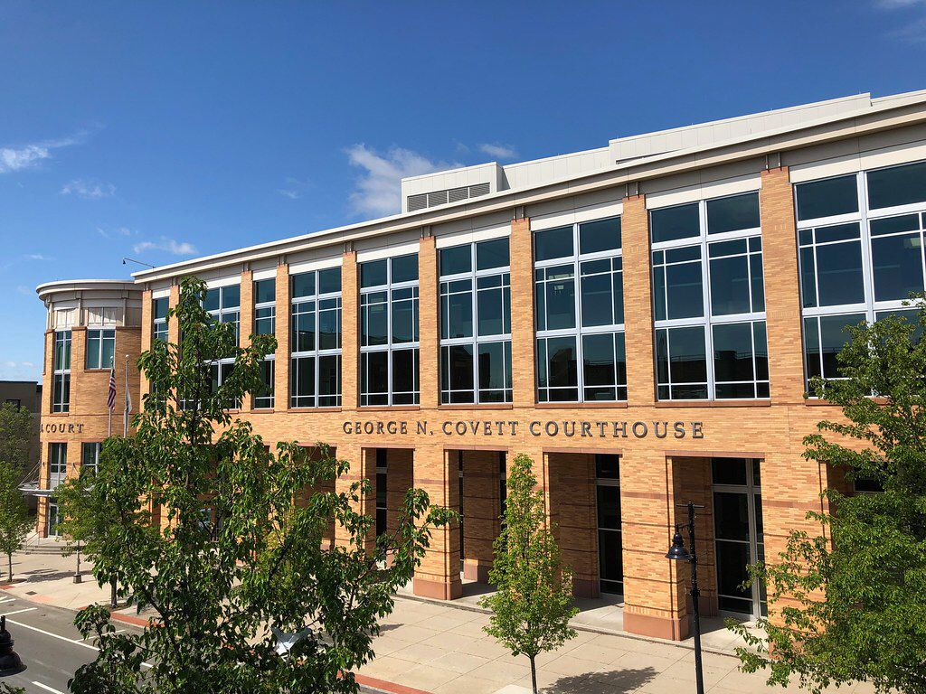 New Plymouth County District Courthouse In Brockton Massachusetts
