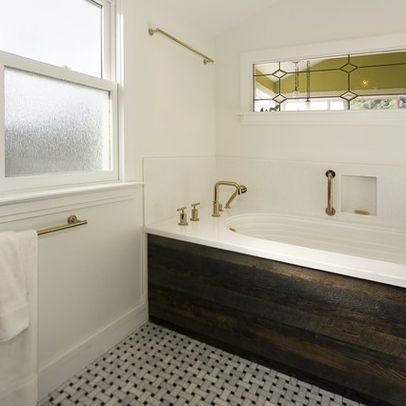 Wood Panel Tub Skirt Design Ideas, Pictures, Remodel, And Decor