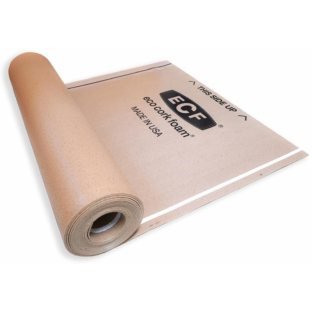 Eco Cork Foam 75 Sq Ft 3 Ft X 25 Ft X 3 Mm Waterproof Premium Plus 10 In 1 Underlayment For Vinyl Laminate Engi In 2020 Engineered Flooring Underlayment Flooring