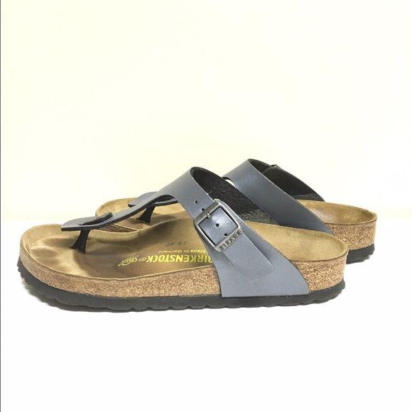 aad10940b Gizeh Birkenstock - Onyx Lightly worn Birkenstock Gizeh Sandals. Color:  Onyx (blue-grey/slate, slight shine). Great condition, no scuffs, ...