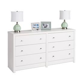 Prepac Calla White 6 Drawer Dresser