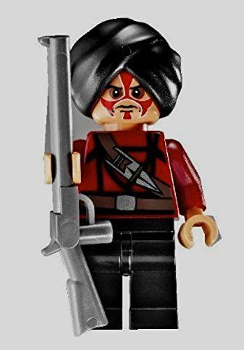 Lego Mini Figure Classic Dark Gray Rifle Weapon X1