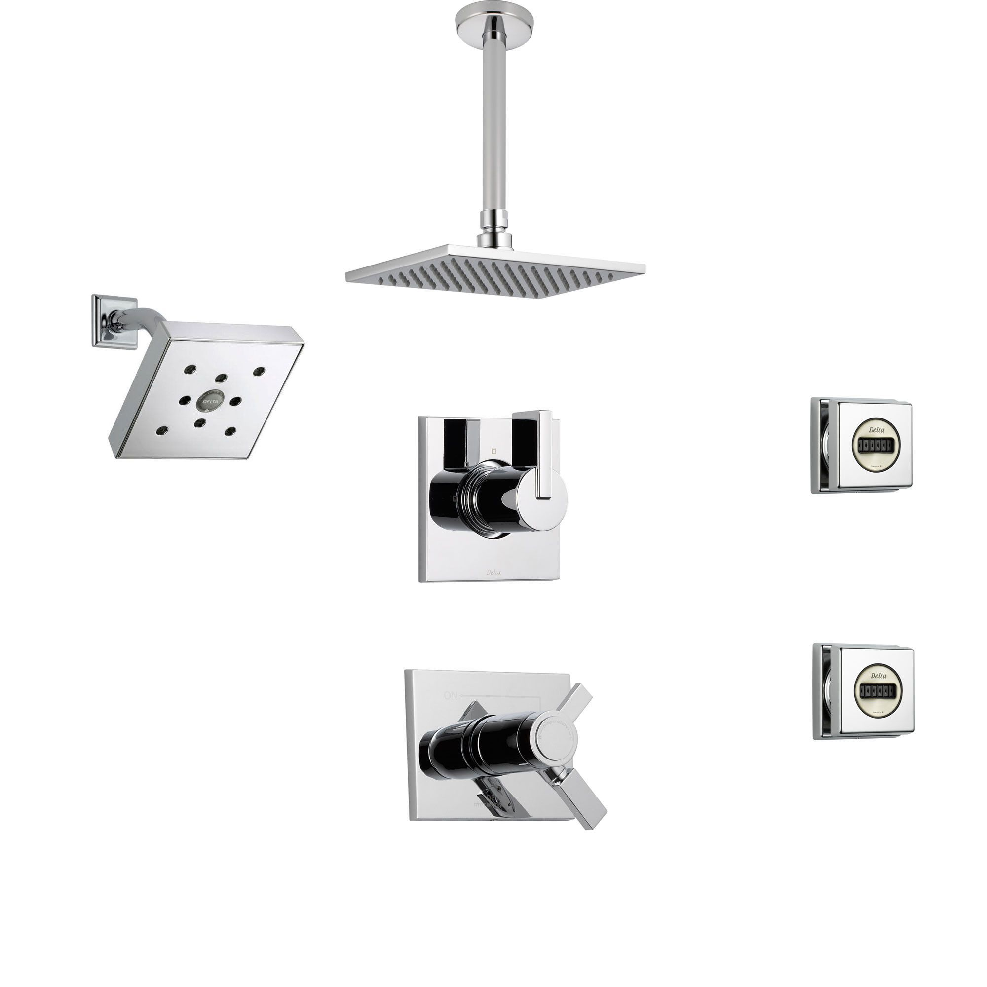 Delta Vero Chrome Shower System With Thermostatic Shower Handle 6