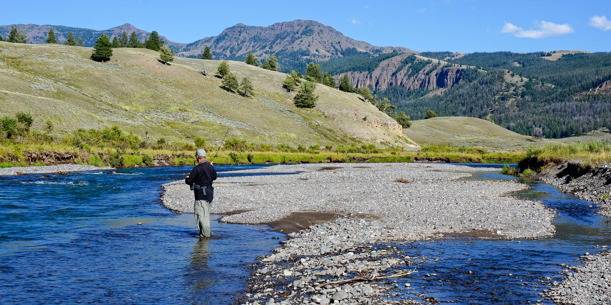 Peter Lami Fly Fishing On Soda Butte Creek Near The Lamar River Junction In Yellowstone National Park Ph Yellowstone National Park Fly Fishing National Parks