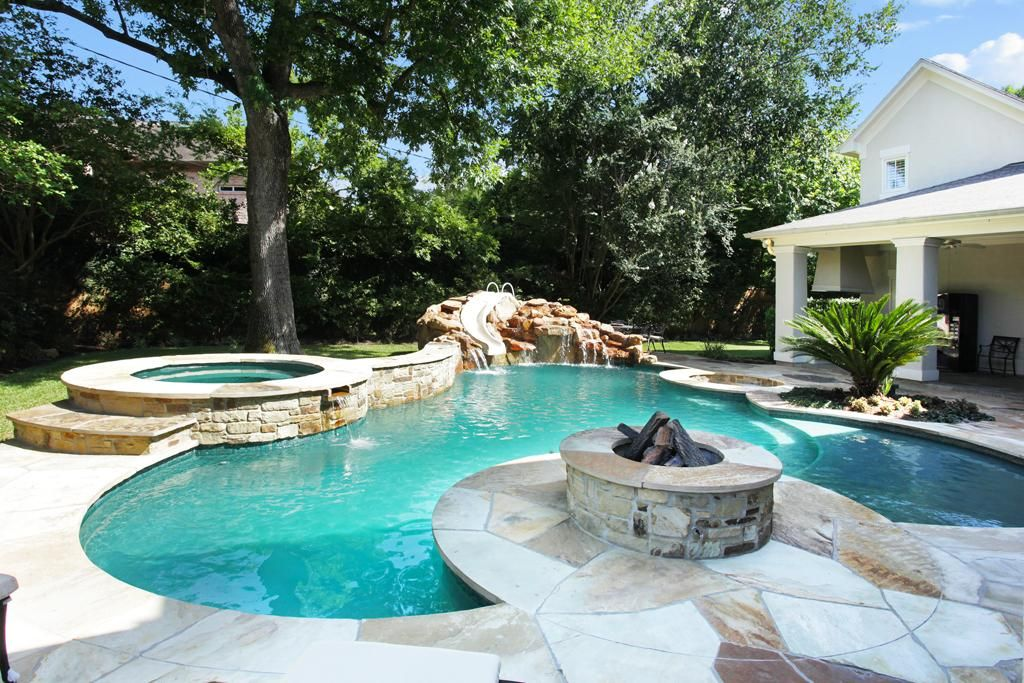 backyard salt water pool. The Private Backyard Features A Heated Salt Water Pool With Swim Up Bar, R