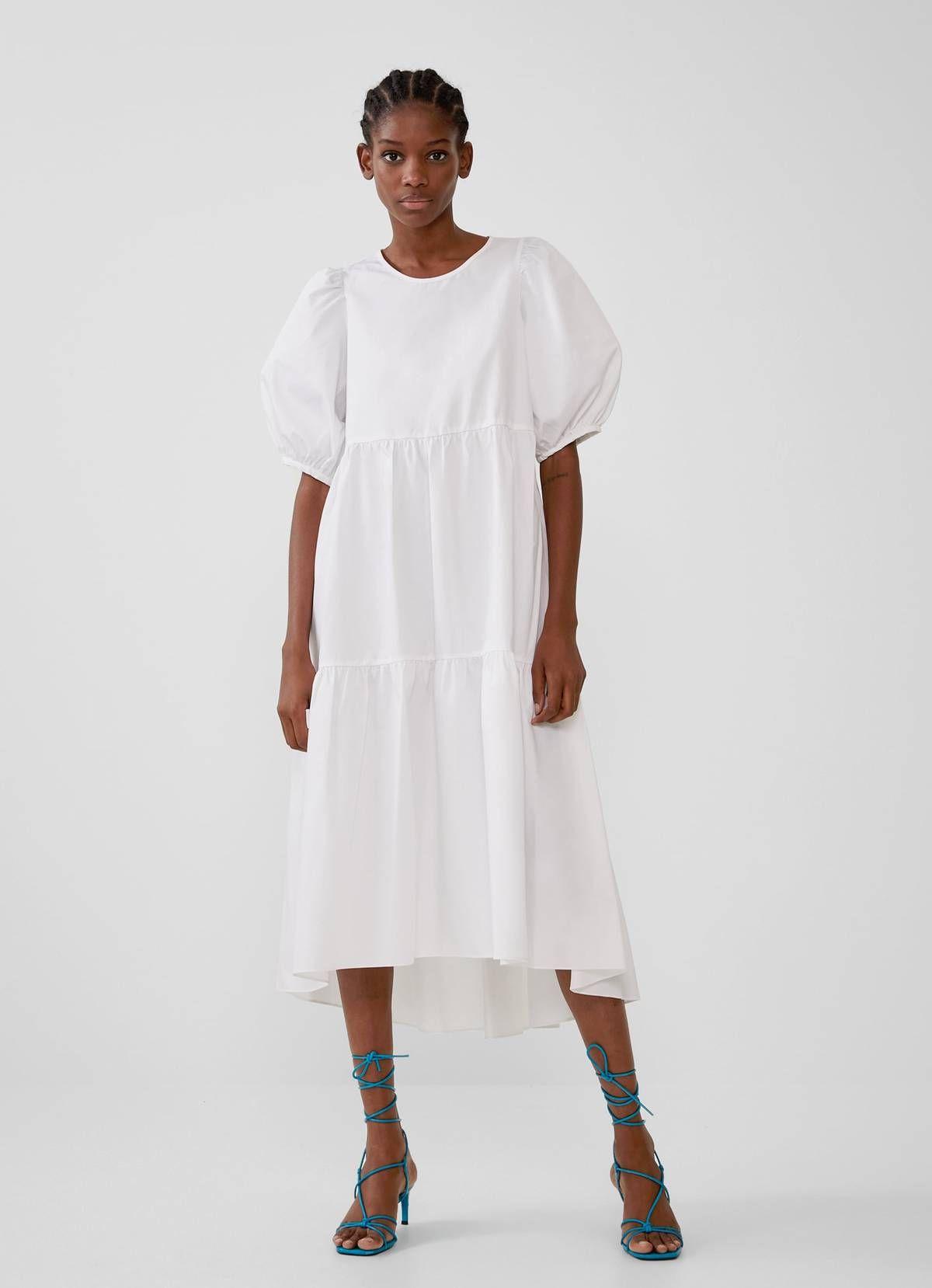 zara poplin white dress Promotions