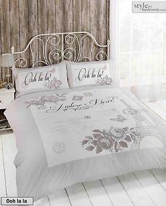 French Inspired Paris Eiffel Tower Duvet Quilt Cover Bedding Set ... : eiffel tower quilt cover - Adamdwight.com