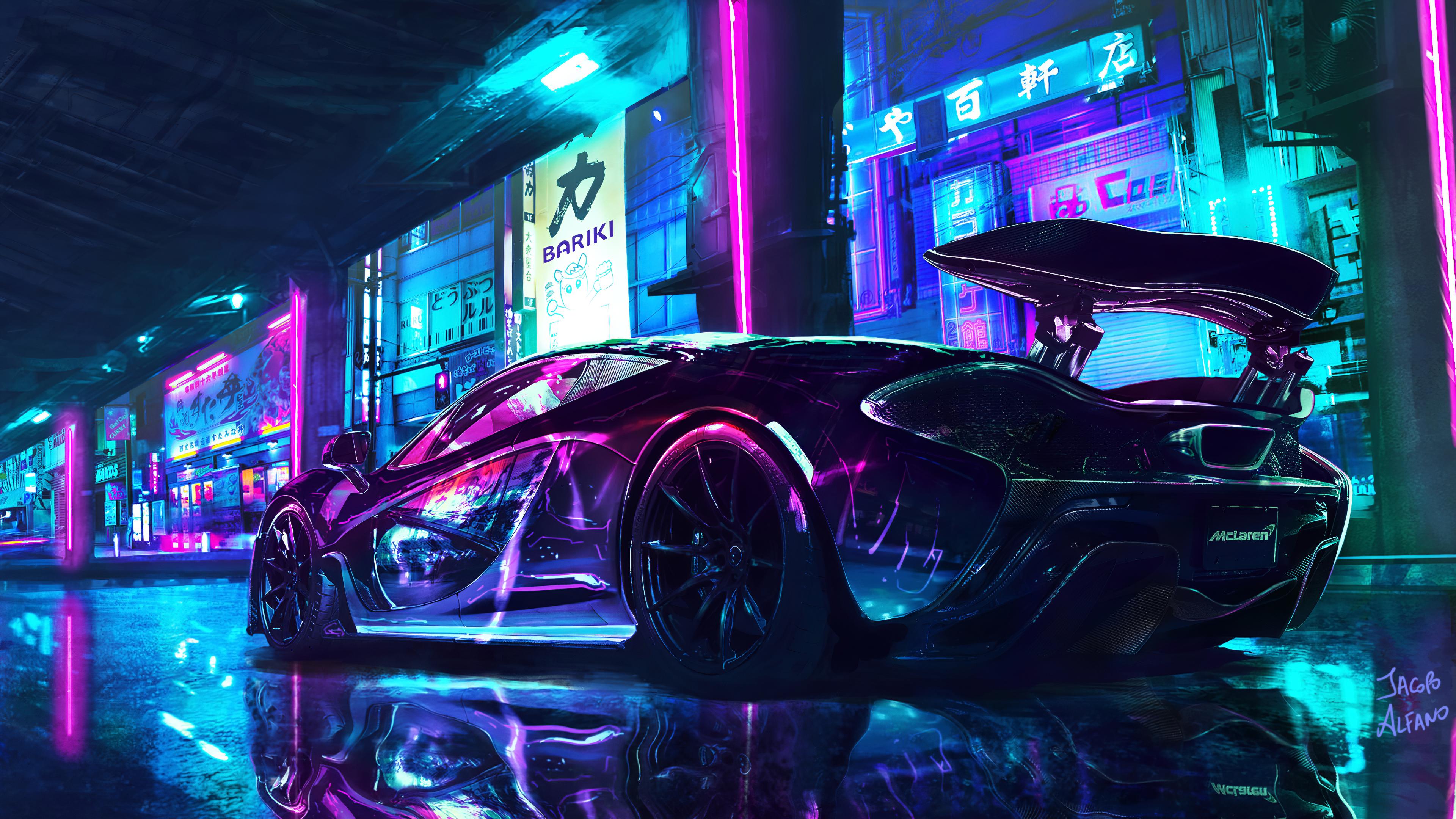 Mclaren Mp4 Cyberpunk Chrome By Jacopo Alfano 3840x2160 3840x2160 Wallpaper Cyberpunk Wallpaper Neon Wallpaper