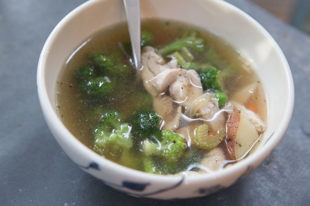 Pin now, make later - chicken soup with bone broth
