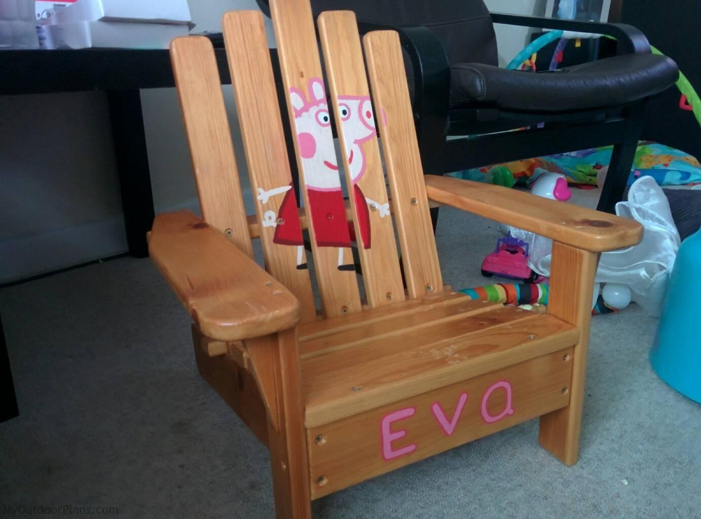 Diy kids adirondack chair myoutdoorplans free