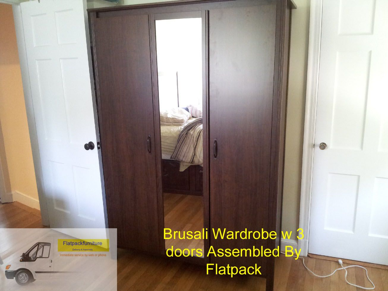 Ikea brusali wardrobe with doors article number best