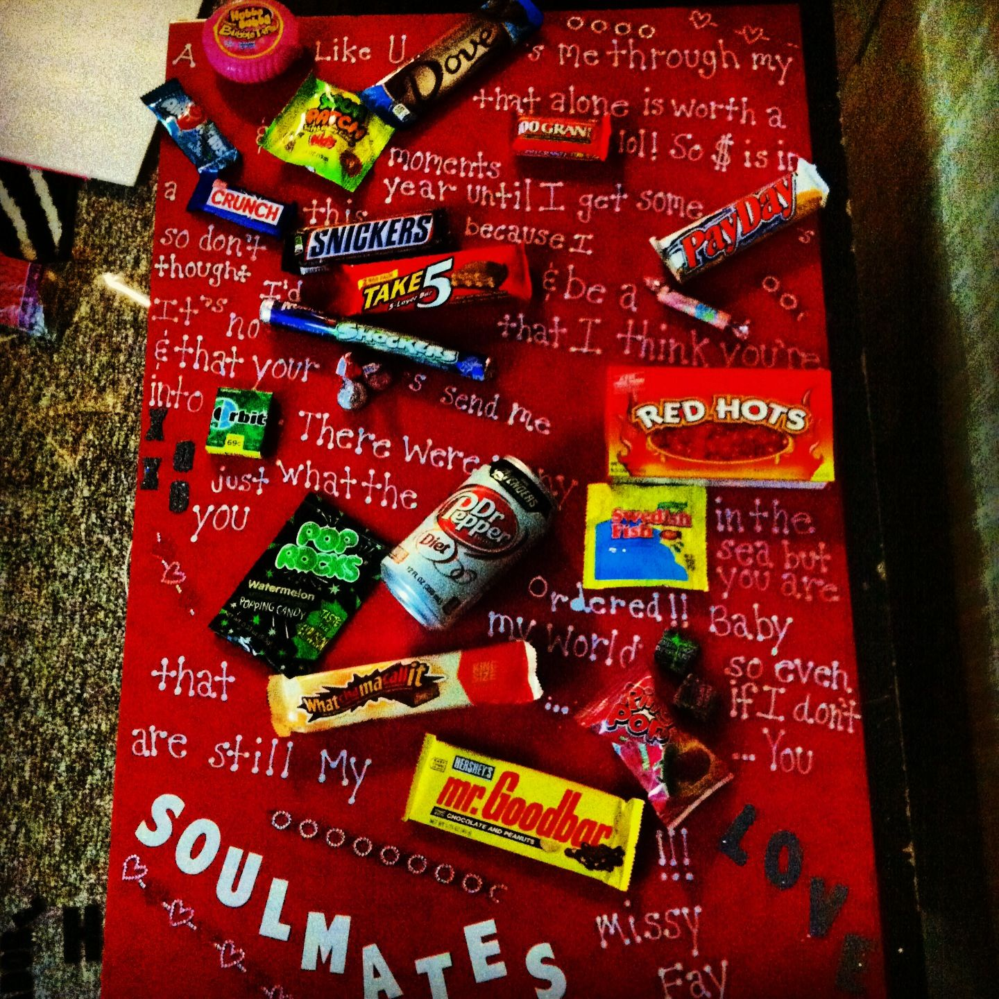 My candy gram valentines day present for my man this year  foam
