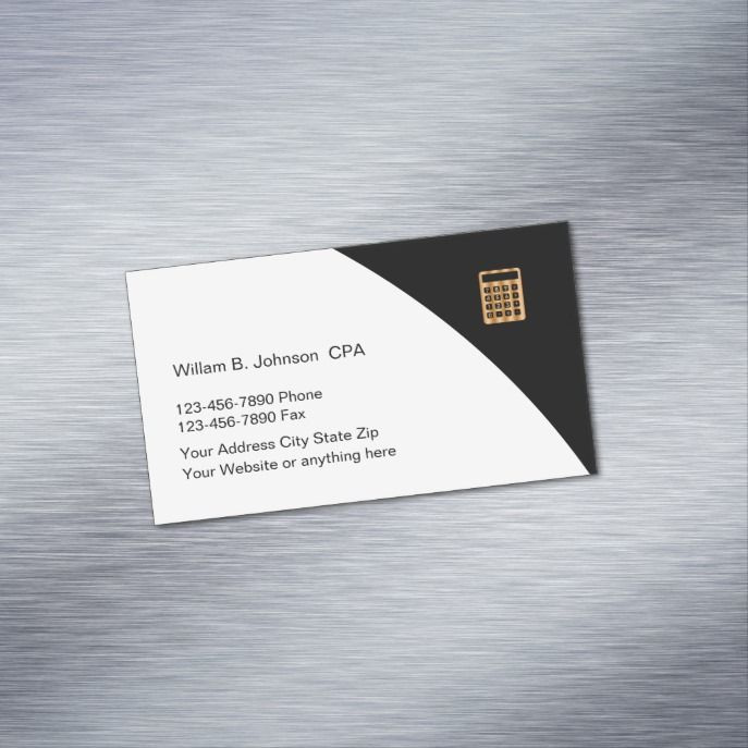 Classy Accountant Cpa Theme Business Card Magnet Zazzle Com In 2021 Magnetic Business Cards Business Cards Business Card Psd