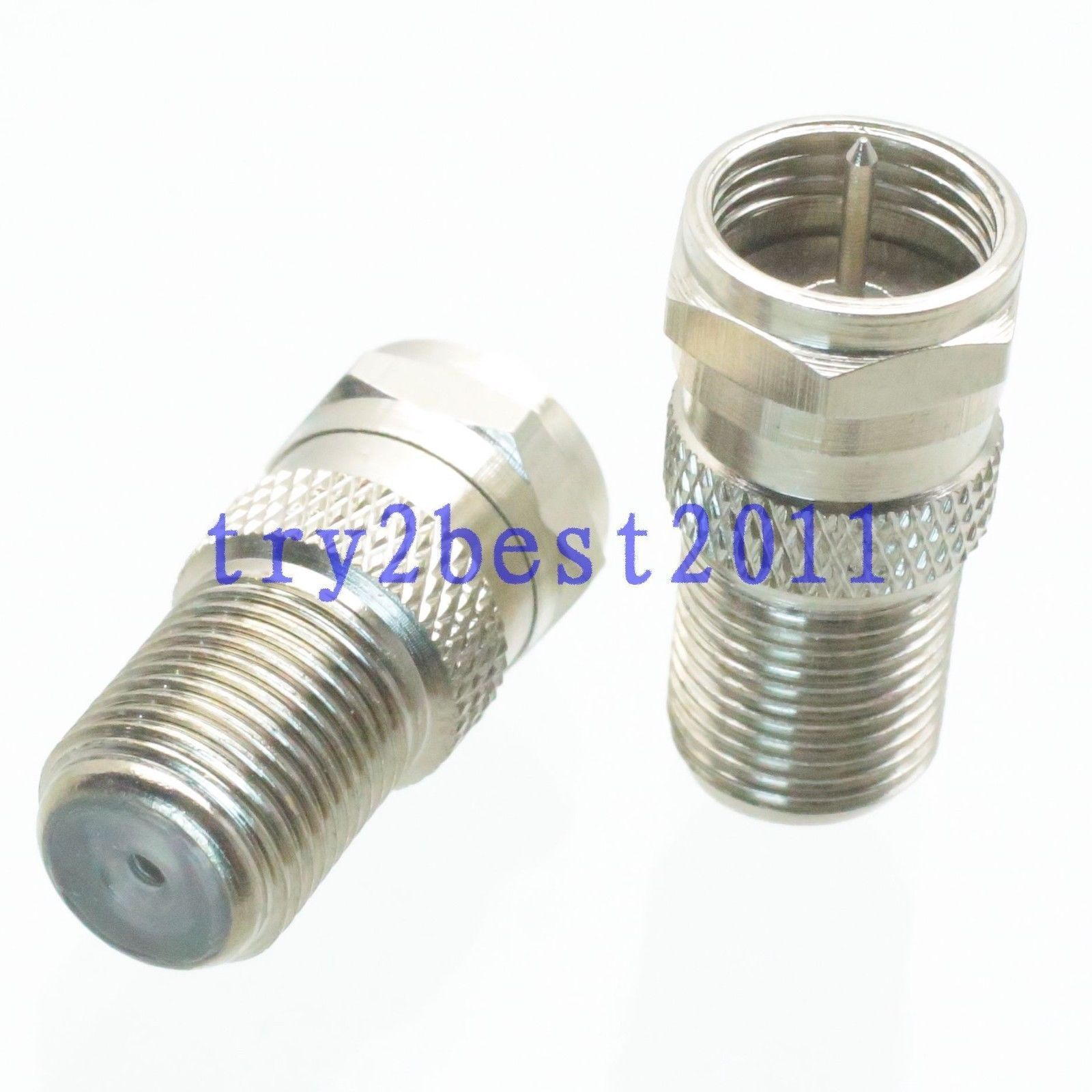 12 1pce Adapter Connector F Tv Plug Pin To F Tv Jack Pin Rf