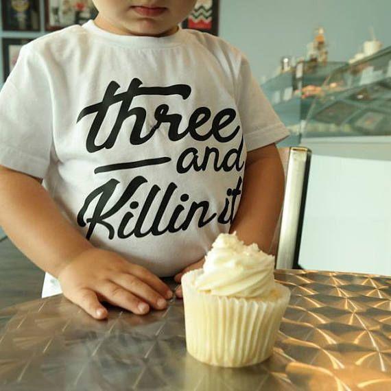 3 Year Old Birthday Shirt Three Boy Party