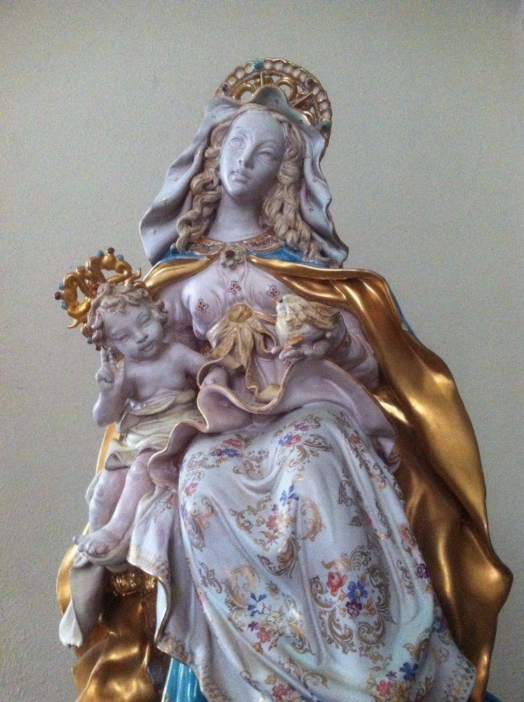 28c07ae7870c Italian professor Eugenio Pattarino Madonna and Child large sculpture signed