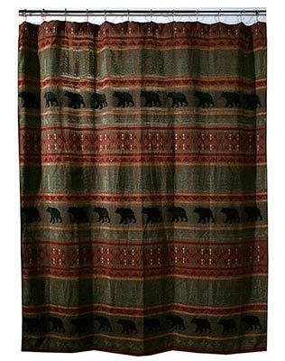 Thank you. You will receive a $1 off coupon during checkout. Bear Country Chenille Shower Curtain & Hooks - Rustic Lodge Style