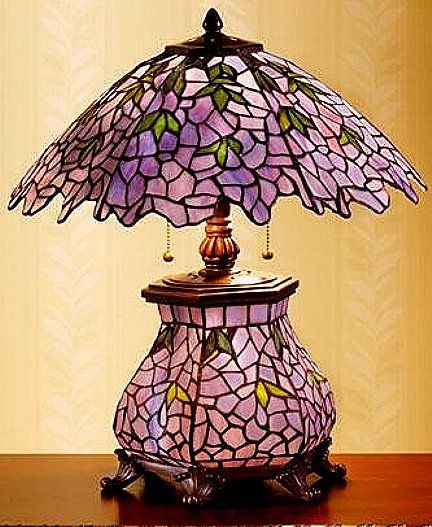 Fresh Purple Stained Glass Lamp